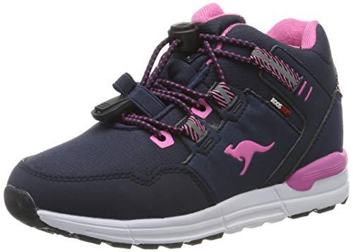 KangaROOS Trabo Ktx, Sneaker a Collo Alto Unisex-Bambini, (Dk Navy/Magenta 4106), 35 EU