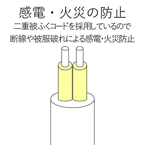 『エレコム 電源タップ 雷ガード 個別スイッチ ほこりシャッター付 6個口 2.5m ブラック T-K6A-2625BK』の1枚目の画像
