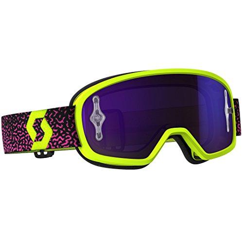 Scott Buzz Pro MX Kinder Goggle Cross/MTB Brille gelb/pink/lila chrom works
