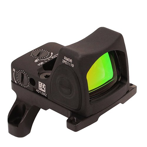 Trijicon RM06-C-700676 RMR Type 2 Adjustable LED Sight, 3.25 MOA Red Dot Reticle with RM35 ACOG Mount, Black