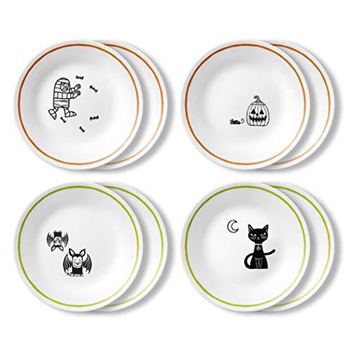 Corelle Chip Resistant Appetizer Plate, 8-Piece, Party Ghouls