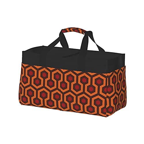 Sac fourre-tout utilitaire extra large – Grand panier de plage en toile réutilisable, sac de courses, sac à provisions, texture tapis brillant