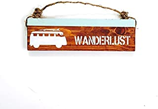Ruskin352 Wanderlust sign travel anthropologie urban outfitters brandy melville vw bus wall hanging decor