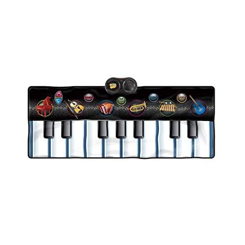 WOHAO Digital-Piano Kindermusik Electronic Piano Decke Spielzeug Hinweise Rhythmus Aufklärung Bildung über 3 Jahre alt (Farbe: Schwarz) (Color : Black)