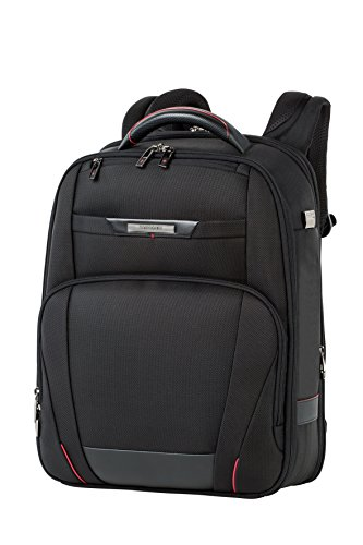 Samsonite PRO-DLX 5 - Backpack Expandable for 15.6'' Laptop 21/26L, 1.4 KG Mochila tipo casual, 44 cm, 21 liters, Negro (Black)