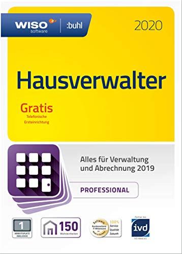 WISO Hausverwalter 2020 Professional - Die Profisoftware für alle Vermieter und Hausverwaltungen | Professional | PC | PC Aktivierungscode per Email