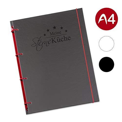 flexiNotes KOCHBUCH A4 zum Selberschreiben mit Register, Typ: Sterneküche, Weinrot