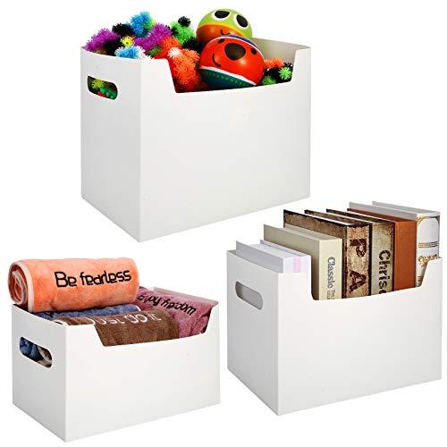 Caja de almacenamiento para ropa interior, cajas de almacenamiento con tapa, juego de cestas de almacenamiento, cajas blancas, cajas plegables, 3 unidades