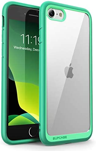SUPCASE Unicorn Beetle Style Case for iPhone SE 2nd generation 2020, iPhone 7, iPhone 8, Premium Hybrid Protective Clear Case (Green)