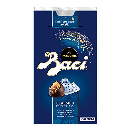Baci Perugina - Caja Bijou de Bombones de Chocolate Negro Original - 200g