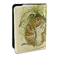 いちごを食 mouse パスポートカバー 旅行パスポート パスポートケース パスポートバッグ パスポートホルダー 多機能 航空券 スキミング防止