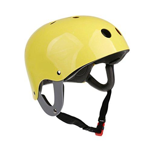 T TOOYFUL Casco da Kayak Sport d'Acqua Casco Protezione Gear per Outdoor Kitesurf Surf Canoa Kayak - Giallo