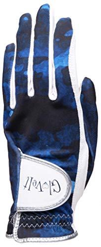 Glove It Damen Golfhandschuh Linke Hand Golfhandschuh – 2019 Blue Camo – weiches Cabretta-Leder – UV-Schutz – Damen Performance Grip Handschuhe für Golf & Sport (groß)