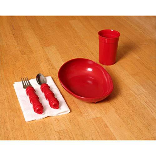 Mabis Dmi Healthcare Redware Dinnerware Set, Red, One