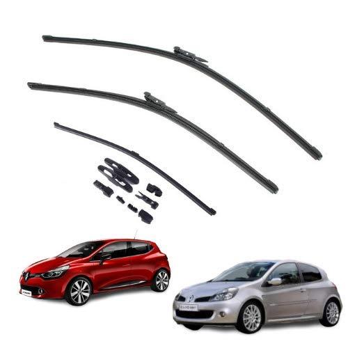 AOQ – Spazzole tergicristallo anteriori e posteriore set da 3 - Renault Clio