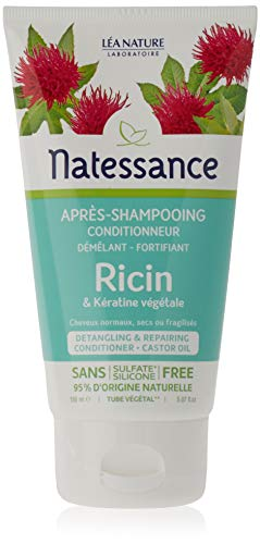 Natessance Capillaire Après-shampooing Conditionneur À L'huile de Ricin et Kératine Végétale 150 ml