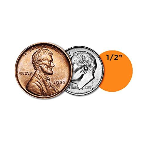 ChromaLabel 1/2 Inch Round Permanent Color-Code Dot Stickers, 1000 per Dispenser Box, Orange Photo #3