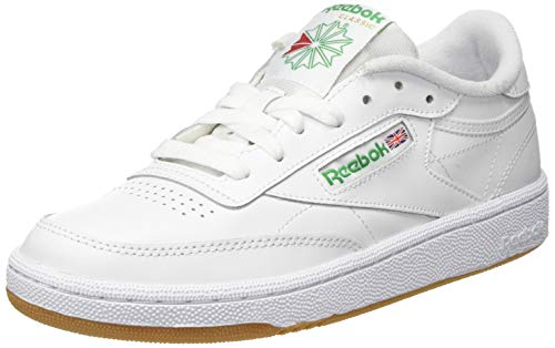 Reebok Club C 85, Scarpe da Ginnastica Donna, White/Green/Gum, 37.5 EU