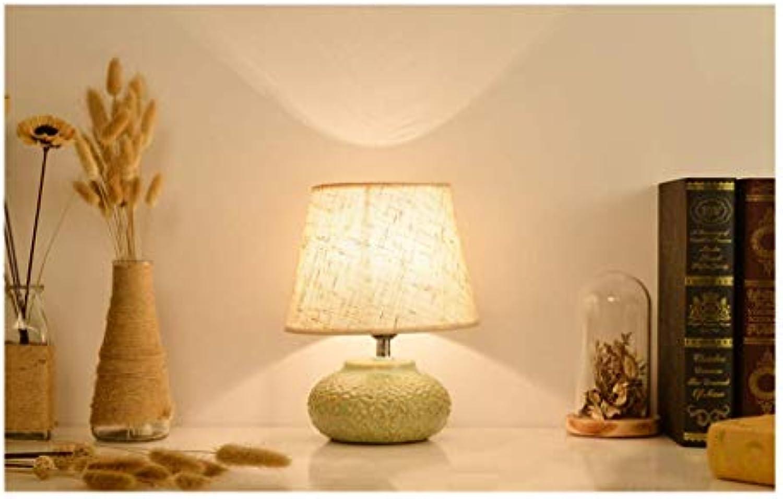 BinLZ Tischlampe Schreibtisch Led Licht Moderne Minimalistische Keramik Tischlampe Schlafzimmer Studie Nachttischlampe