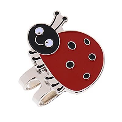Jili Online Magnetic Hat Clip and Golf Ball Marker Lightweight Strong Alloy Golf Accessories Golfer Gift Different Patterns - Ladybird