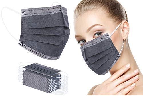 Face Bandana Mask Ear Loops Face Cover Men Women Mouth Cover Breathable Disposable YUAKOU (50pcs, Grey)