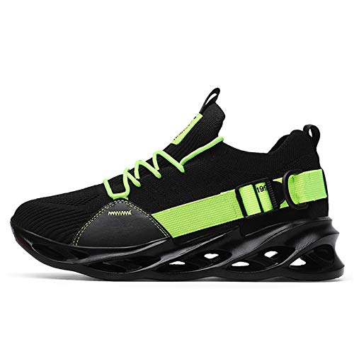 ZYSM Zapatillas Casual Hombre Running Zapatos Moda Sneakers Deportivas Gimnasio Casual Transpirables Zapatos,Negro,46