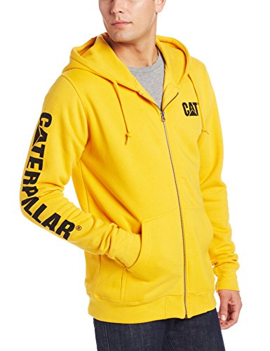 Caterpillar Herren Full Zip Hooded Sweatshirt Kapuzenpulli, gelb, Small