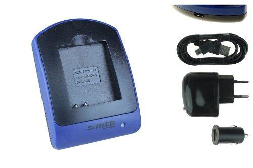 Ladegerät (USB, KFZ, Netz) für Panasonic DMW-BCM13 / Lumix DMC-FT5, TS5, TZ37, TZ40, TZ60, TZ70, TZ71, ZS30, ZS40. - s. Liste