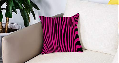 Pillowcase,Cuscini da Letto,Zebra rosa, elegante modello di deserto africano animale giungla mammiferi moda Boho grafica, roCuscini Per Copricuscini Divano Caso Federa Home Decorativi 45x45 Cm