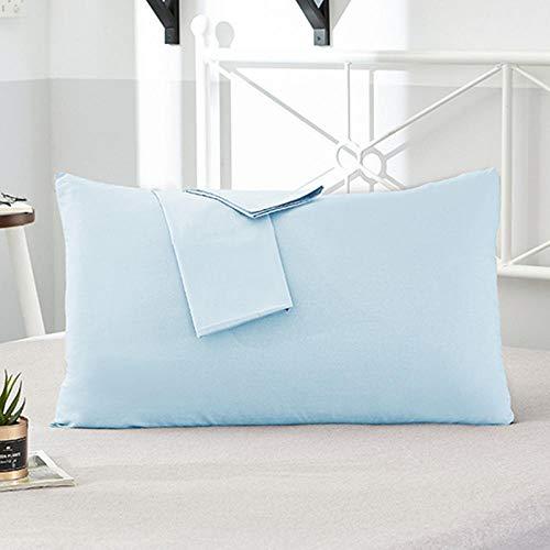 HNLHLY Funda de Almohada de Hotel de algodón Funda de Almohada de Color Puro Funda de Almohada de Cama Varios tamaños Disponibles, 2 Piezas-M_70X70Ccm