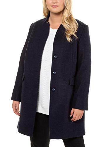 Ulla Popken Damen Mantel, Blau (Dunkelblau 70), (Herstellergröße: 48)