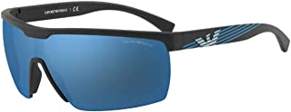 امبوريو ارماني نظارة شمسية مستطيل للرجال - ازرق، 4116, 42, 5042, 55