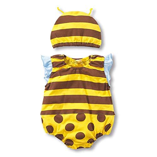 CDKJ Baby Girl Jumpsuit barboteuses été enfant en bas âge garçon nouveau-né Bodys bébé Pulls Tenues combishort pour un enfant jusqu'à l'âge de 66cm - style Bee