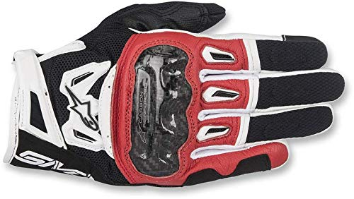 Gants Moto Alpinestars SMX-2 Air Carbon V2 Glove Black Red White, Noir/Blanc/Rouge, M