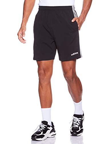 adidas Herren Essentials 3-Streifen 7 Zoll Shorts, Black/White, XL