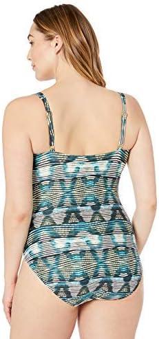 La Blanca Women's Plus Size Classic Over The Shoulder One Piece Swimsuit