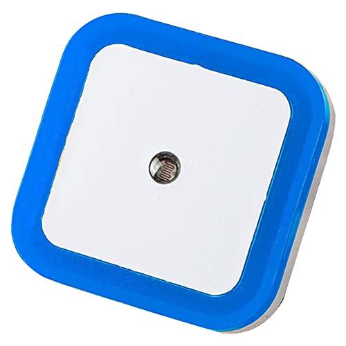 Luz Nocturna Led Mini Luces De Pared Lámpara De Cama Lámpara De Cama Sensor Táctil Inducción para El Dormitorio Baño Camino Aseo Blue Square