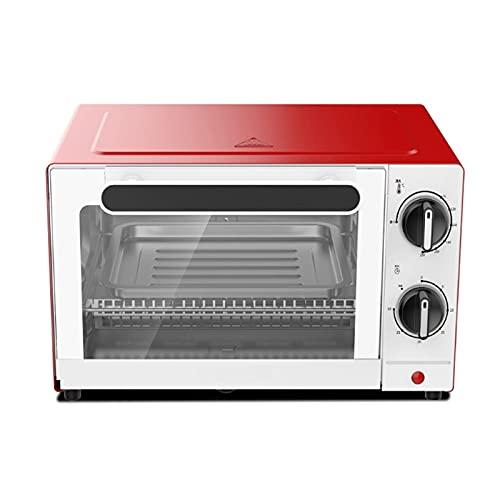 Mini horno - Parrilla eléctrica portátil 10L - Control de temperatura ajustable,...