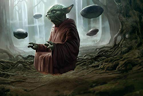 lcyab 1000 Tablets Juego Educativo Clásico para Adultos Y Niños-Póster De La Película Star Wars Master Yoda-Regalos De Cumpleaños para Niños Y Niñas