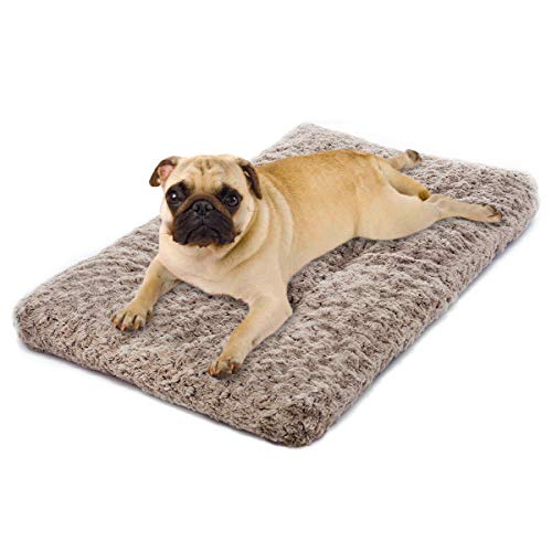 MIXJOY Dog Bed Ultra Soft Crate Pad Home Washable Mat for Dogs and Cats Crate (24-inch, Mocha)