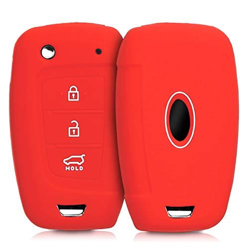 kwmobile Funda de Silicona para Llave Plegable de 3 Botones para Coche...