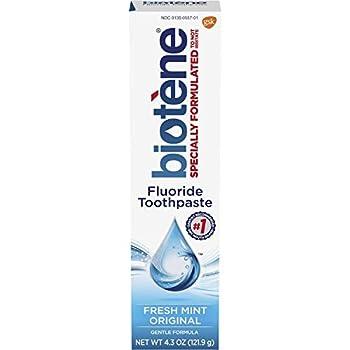 Biotene Dry Mouth Fluoride Toothpaste Fresh Mint Original 4.3 Oz  2 Pack