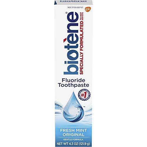 Biotene Dry Mouth Fluoride Toothpaste Fresh Mint Original 4.3 Oz. (2 Pack)