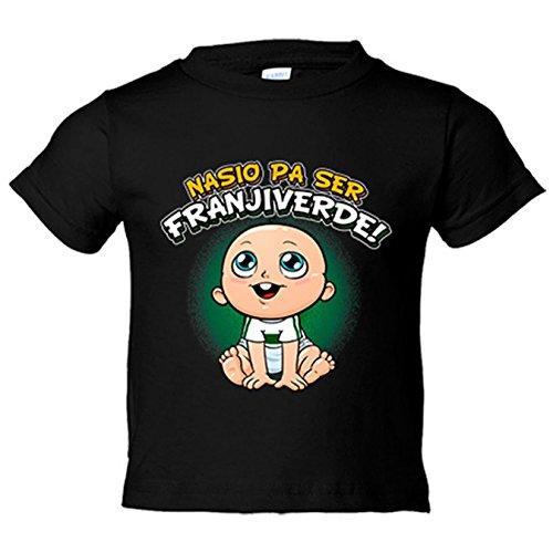 Camiseta niño nacido para ser Franjiverde Elche fútbol - Negro, 12-14 años