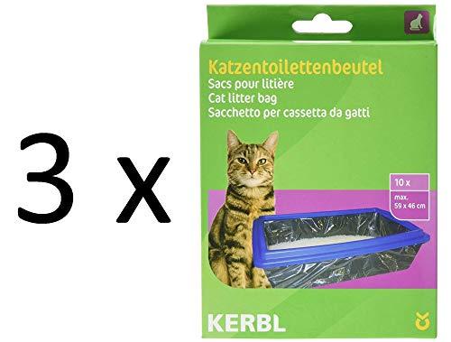 Kerbl 84215 - Bolsas para Aseo de Gatos XL 59 x 46 cm (3 x 10 Unidades)