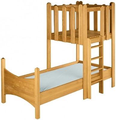 BioKinder 22734 Ahorro Conjunto: cama Noah con la torre. Aliso Biológica