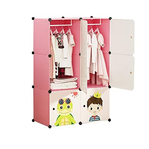 FANJIANI Garderobe eenvoudige kindergarderobe volledig hangend baby kast hangende kleding schuifdeur meisjes-prinses