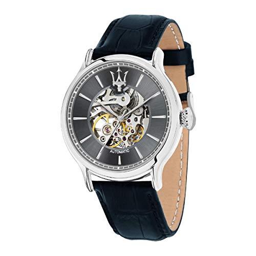 Orologio da uomo, Collezione Epoca, movimento meccanico automatico, solo tempo, in acciaio e cuoio - R8821118002