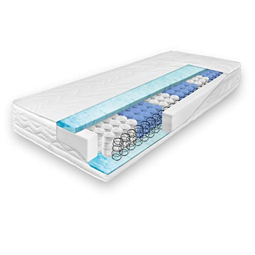 verapur Taschenfederkern Matratze 160 x 200 cm H3, 7-Zonen, Ortho Soft weiche Tonnentaschenfederkernmatratze, waschbarer Bezug, Öko-Tex, 23cm hoch
