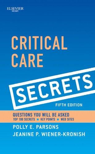 41gLOKP9F8L - Critical Care Secrets